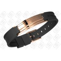 18K Rose Gold Stainless Steel Bracelets With Ionized , Magnetic Therapy Bracelet Manufactures