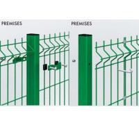 Customized Welded Mesh Security Fencing , Green Pvc Coated Welded Wire Mesh Fencing Manufactures