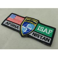 Buy cheap ISAF Custom Embroidery Patches / Woven America Military Velcro Patches from wholesalers