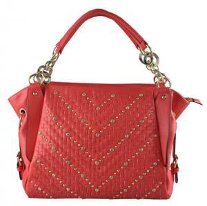 China Fashion Crystal Studded Tote Bag Oversized Red Handbag Big Handbag CC45-001 on sale