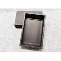 Durable Push - Pull  Cardboard Gift Boxes ,Recycle Black Kraft Gift Box Manufactures