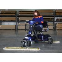 Industrial Tool Three Wheel Dust Cart Scooter Driving Type With 600mm / 900MM Mopping Manufactures