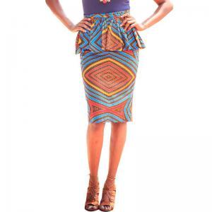 Summer Dashiki Batik African Print Skirts High Waist Pencil Knee Length Pure Cotton Manufactures