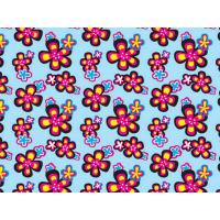 Printed Coated Polyester Fabric For Luggage , PVC Polyester Fabric Manufactures