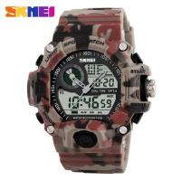SKMEI Camo LED military time digital watches  Men Dual Display Sports  Waterproof Wristwatch 1029 Manufactures