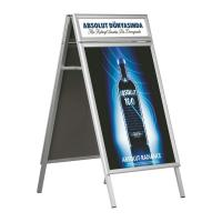 Hotel Aluminum Double Side Free Standing Poster Display Stands Manufactures