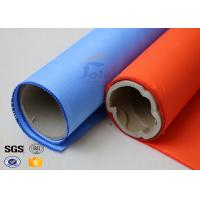 Blue Rubber Silicone Coated Fiberglass Fabric Thermal Insulation Cover 18oz Manufactures