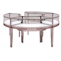 Stainless Steel Frame Jewelry Display Cases , Jewellery Showroom Furniture Manufactures