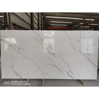 China China Wholesale Cheap Gray Vein Calacatta Gold Quartz That Looks Like White Artificial Marble on sale