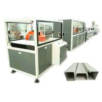 China Twin Screw Pvc Profile Extrusion Machine Electrical Cable Trunking Making on sale