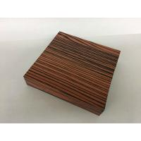 Red Color Wood Finisn Aluminum Door Frame Profile T5 For Building Materials Manufactures