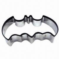Halloween Stainless Steel Cookie Cutter with Black Silicone Rim in Bat-shaped, Flagship Products Manufactures