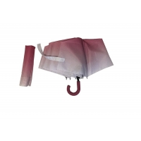 China 3 Folds Manual Open J Handle Umbrella With Heat Transfer Printing on sale