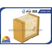 Custom Print Label Corrugated Kraft Mailing Box E Flute Brown Corrugated Mailer Manufactures