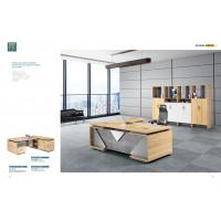 China Commercial Office Furniture ,Office Executive Desk With Filing Cabinet And HPL on sale