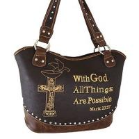 western rhinestone cross purse /handbags with bible verse Manufactures
