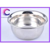 Traditional large metal shaving bowl , shave cream bowl chrome plating Manufactures