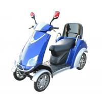 Comfortable 4 Wheel Power Scooters Blue Battery Operated Scooter With Four Wheels Manufactures