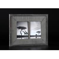 2 - Openings 5x7 Wooden Matted Wall Hanging Photo Frames In Antique Dark Gray Finishing Manufactures