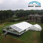 Clear Roof Transparent Frame Tent , Huge Custom Party Tents On Deck Platform Manufactures