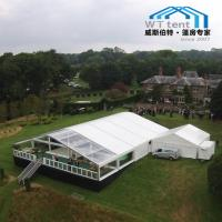 China Clear Roof Transparent Frame Tent , Huge Custom Party Tents On Deck Platform on sale
