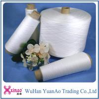 China Raw White Ring Spun Polyester Yarn 100% Polyester Twist Sewing Thread High Strength on sale