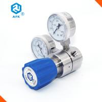 High Pressure Stainless Steel Pressure Regulator Medium Flow Rate With Two Gauges Manufactures