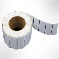 White Woven Clothing Sew EAS Hard Tag ,  58KHz AM Label Roll Manufactures
