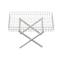 Folding Metal Wire Mobile Dump Table With Square Tube Foot Manufactures