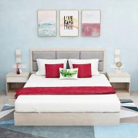 Comfortable Hotel Bedroom Furniture Sets with Double Bed Modern Style Manufactures