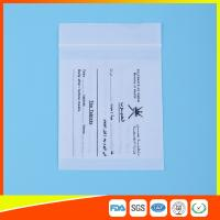 Dust Proof Transparent Zip Lock Bag For Pill Packaging , Disposable Pill Pouches Manufactures