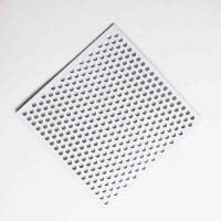 China Powder Coated Round Hole Decorative Perforated Metal Panels For Lighting Fixtures on sale