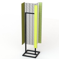 """Powder Wings Fixture Metal Floor Display Stands With Tube Base 1"""" Wire Grid Wall Manufactures"""