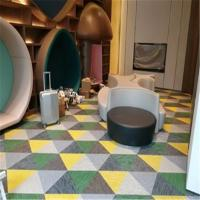 China Easy Clean Woven Floor Covering Multi Color Impact Resistance Non Toxic on sale
