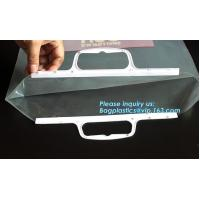 China Glossy Hdpe Rigid Snap Handle Plastic Bag For Clothes,rigid snap seal handle plastic bikini bag,customized printing and on sale