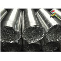 Air Conditioning Silver Copper Color Aluminum Foil Ducting For Extraction Of Solvents Manufactures