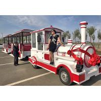Theme Park Roundhouse Trackless Trains 72 Sets Diesel Road Train Steering System Manufactures