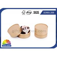 China Watch Jewelry Round Cardboard Packaging Box UV Glosses Embossing on sale