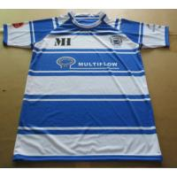 Fashion Cotton Blue And White Striped Rugby Shirt with Customized Sizes Manufactures