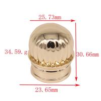 Customized Zamak Perfume Caps Simple And Generous Crown Perfume Bottle Cover For 15 Ml Manufactures