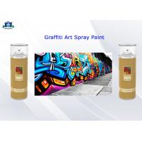 Fast Drying Acrylic Art Graffiti Spray Paints 400ml Female Valve and Low / High Pressure Manufactures
