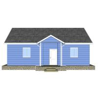 China Heya-3Q02 China 3 room light gauge house fast build affordabled prefabricated house on sale
