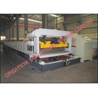Corrugated Sheet Roof Tile Roll Forming Machine With Mitsubishi PLC Control Box Manufactures