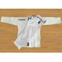 White Blank Brazilian Jiu Jitsu Kimonos With Big Curve Shape Pant Manufactures