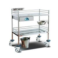 China Surgical Instrument Hospital Patient Trolley , Stainless Steel Medical Equipment Trolley on sale