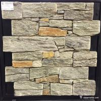 Natural stone Natural Ledgestone Exterior Wall Panels With Cement / Concrete Backing Manufactures