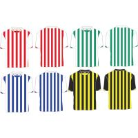 Custom Polyester Striped Soccer Jersey, Person Football Shirt ,Quickly Dry Football Shirts Manufactures
