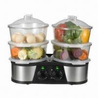 Stainless Steel Twin Food Steamer with 6/12/16/22L Capacity and Good Patent Design Manufactures