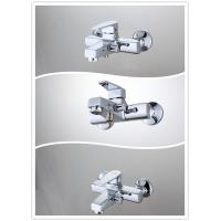 Square Wall Mounted Single Handle Tub And Shower Faucet with Brass Body , HN-3B65 Manufactures