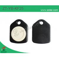 ABS key tag/keyfob/keyring,Model:ZT-YB-KF25,black white Manufactures